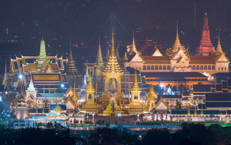 Royal Cremation Exhibition of His Majesty King Bhumibol Adulyadej, Sanam Luang, Bangkok City,Thailand Editorial