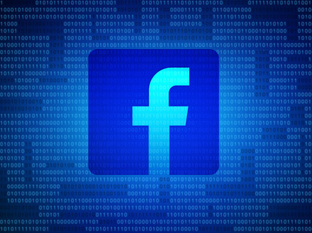 Bangkok, Thailand -2 May 2018 : Facebook security and privacy issues with binary code. 3d illustration 報道画像