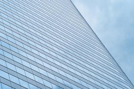 Office building windows. Glass architecture facade design. Stock Photo