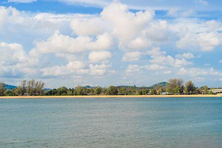 Wave at Phuket beach, Andaman Sea at noon in Thailand. Nature sky background. Фото со стока - 124875099