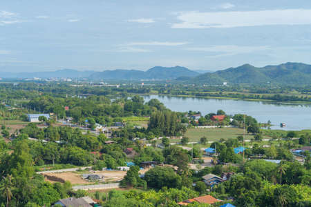 Green Mountain hill. Nature landscape background in Phetchabun, Thailand.