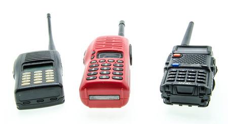 cb phone: Portable radio sets isolated on white background