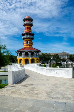 summer residence: Royal summer residence Bang Pa In,Ayutthaya,Thailand Stock Photo