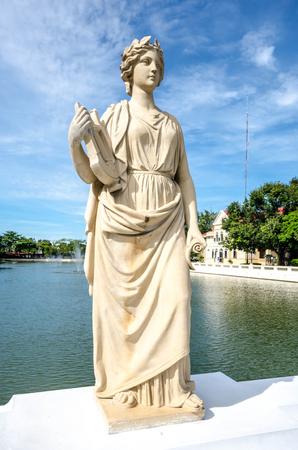 Statue at Bang Pa-In Palace ,Ayutthaya , Thailand