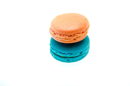 French Macarons on the white background