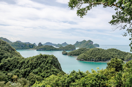point of view: point view of Wua Talab island, Ang Thong National Marine Park, Koh Samui, Thailand Stock Photo