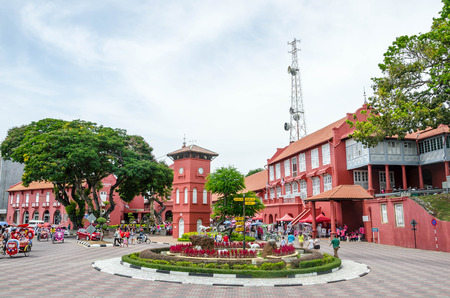 マラッカの歴史センターのマラッカ, マレーシア - 2015 年 6 月 9 日: オランダ広場。