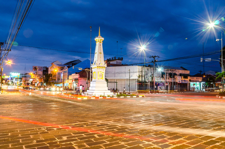 YOGYAKARTA, INDONESIA - MAY 21,2016:Tugu Jogja is the most popular landmark of Yogyakarta, Java, Indonesia.