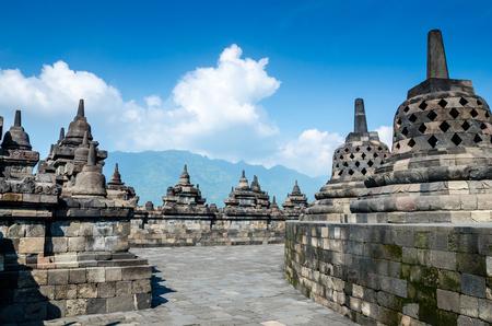 Heritage Buddist Borobudur Temple, Central Java,Yogyakarta, Indonesia.