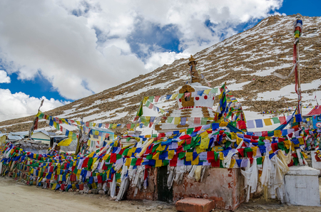 The Chang La is on the route to Pangong Lake from Leh. The name literally means Pass towards the South and is the third highest motorable road in the world 5300m