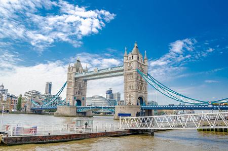 Tower Bridge in London on a beautiful day,London,United Kingdom.