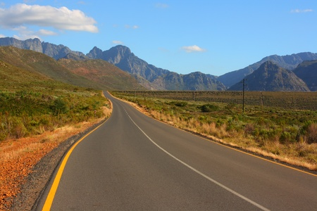 south africa nature: Scenic road, Western Cape, South Africa