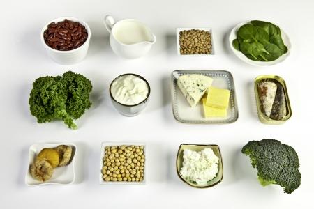Les sources alimentaires de calcium Banque d'images