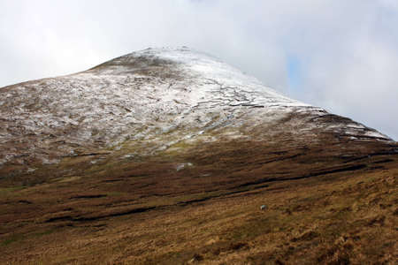 county tipperary: The Galtee Mountains in winter, Ireland. Stock Photo