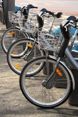 Bicycles for rent in Dublin city Stock Photo - 13055584