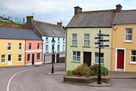 republic of ireland: Colorful houses in a West Cork village, Ireland