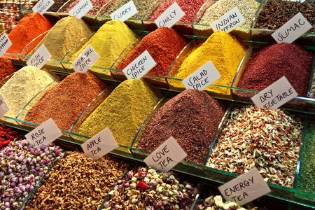 Spices in Istanbul, Turkey Stock Photo - 13883029