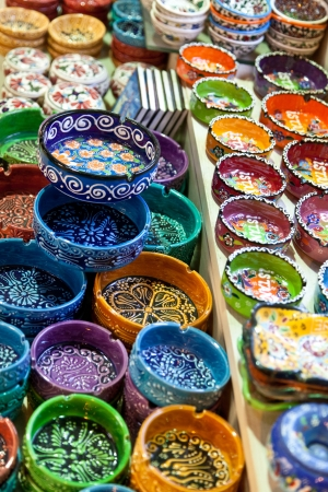 Ceramic souvenirs in Istanbul, Turkey photo