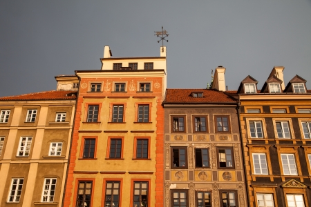 buidings: Row of buidings in the Old Town Market Place, Warsaw, Poland
