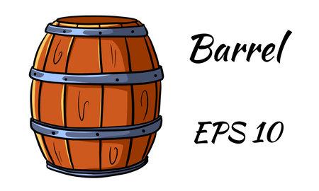 Barrel for wine or beer.