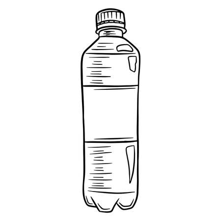 Water bottle. International Water Day. Water in a plastic bottle. Cartoon style. Vector illustration. For design and decoration. Ilustracje wektorowe