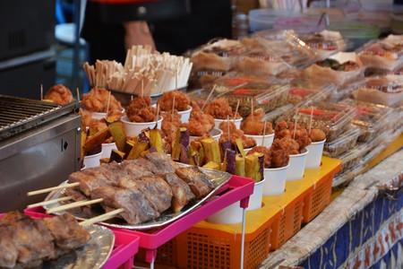 Japan Festival stalls Stock Photo