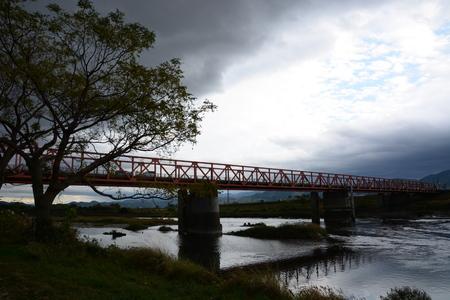 Chikugo-River riverbed Stock Photo