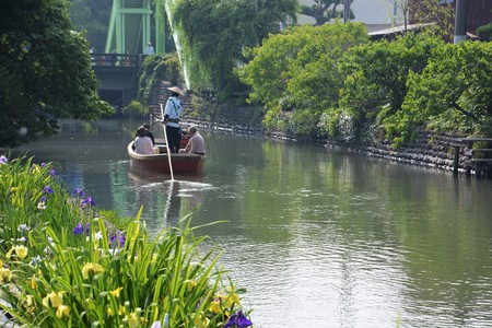 Downstream in a boat/Japan Fukuoka Yanagawa-city
