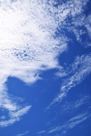 Blauwe lucht en witte wolken