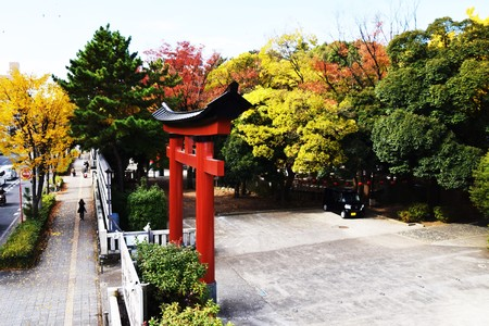 Gateway of Japanese shrine