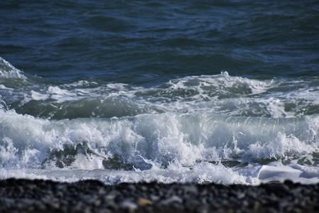 Waves of winter beach