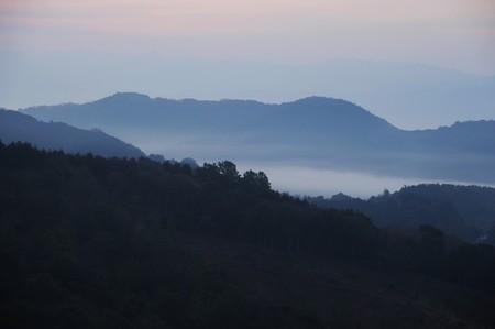 Dense fog Stock Photo