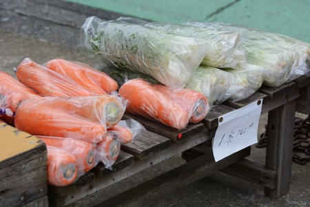 Unattended sales place of vegetables