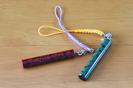 lacquered key chain