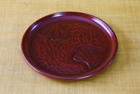 Lacquered tray  Japanese traditional crafts. Called Stockfoto
