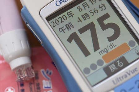 Diabetes Treat / Blood Grucose Level Measurement. 写真素材 - 153738329
