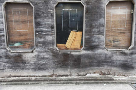 An abstract sight in everyday life on the street corner.