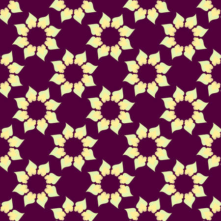 Seamless background. Folk ethnic ornament. Abstract kaleidoscopic graphic.  Repeating geometric pattern. Template. Monochrome. Vector.