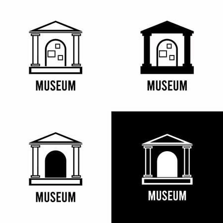 Museum sign set vector Vettoriali