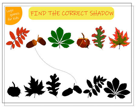find a suitable shade for the leaves of the trees. maple, rowan, oak, chestnut, acorn