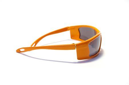 tinted glasses: Orange sunglasses isolated on a white background Stock Photo