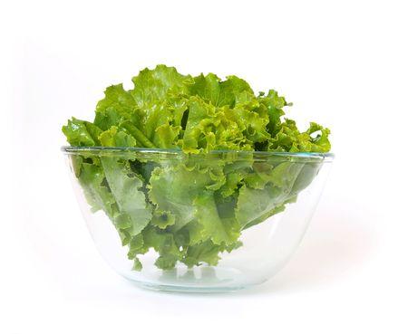 Fresh lettuce isolated on a white background photo