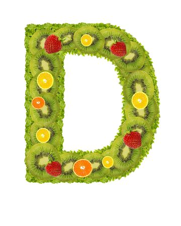 Alphabet from fruit isolated on a white background - D Stock Photo - 3529810
