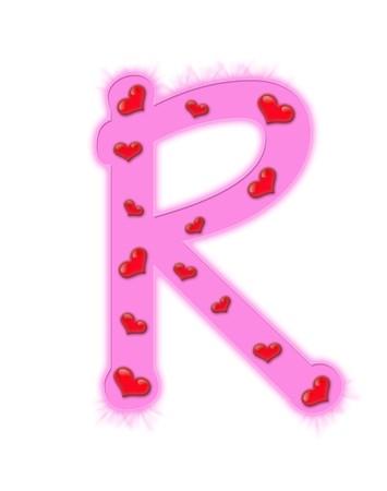 r image: D�a de San Valent�n alfabeto aisladas sobre fondo blanco - R