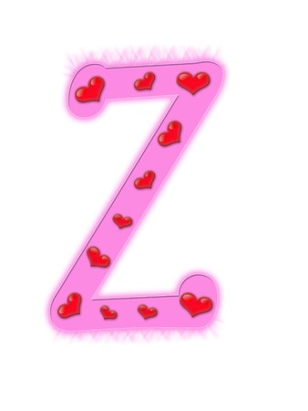 Valentines day alphabet isolated on a white background - Z photo