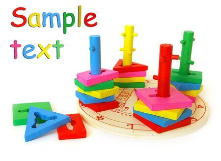 developmental: Bright developmental toy isolated on white background