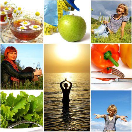 Gezonde leefstijl concept. Voeding en fitness Stockfoto