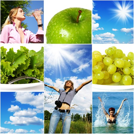 Healthy lifestyle concept. Diet and fitness  photo