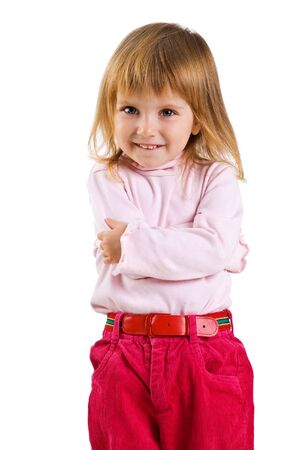 Close-up vertical portrait of a cute little girl photo
