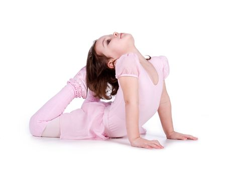 Little ballet dancer isolated on a white background Stock Photo - 6310708